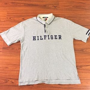 90s Vintage Tommy Hilfiger Big Logo Polo Shirt 2XL
